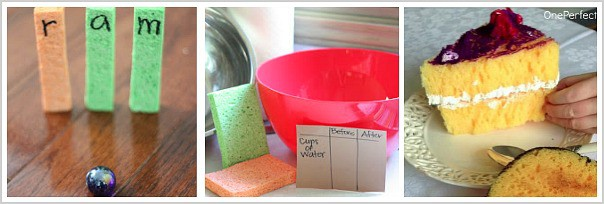 cool ways to use sponges with kids
