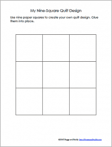 Geometry Activity for Kids: 9-square template