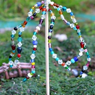 Spring Crafts for Kids: Beaded Garden Ornaments