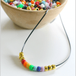 Beaded Rainbow Necklace Craft for Kids