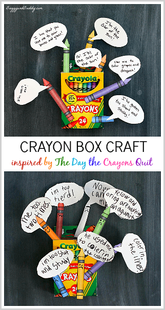 The Day the Crayons Quit Craft and Activity for Kids (w/ Free Printable)~ BuggyandBuddy.com