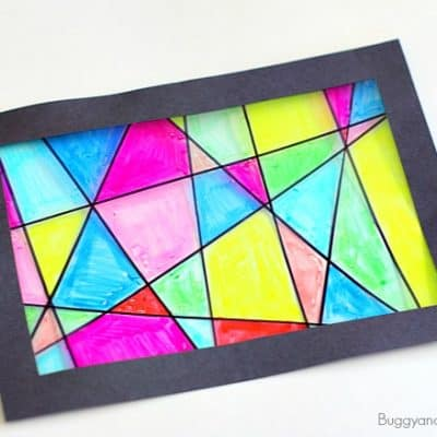 Faux Stained Glass Suncatcher Craft for Kids