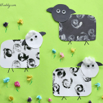 Stamped Sheep Craft for Kids