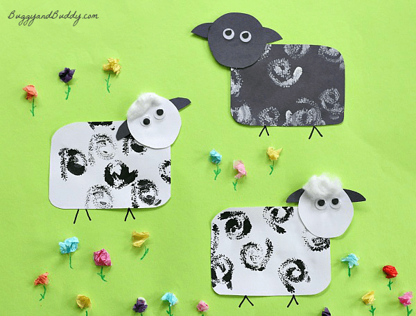 Spring Crafts for Kids: Sheep Craft for Kids~ BuggyandBuddy.com