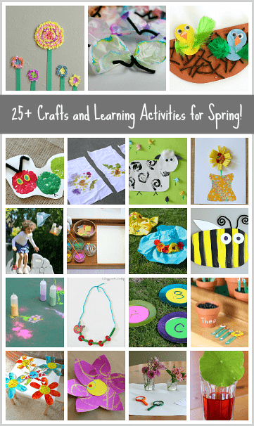25+ Spring Crafts and Learning Activities for Kids (art, science, sensory play, and more!) ~BuggyandBuddy.com