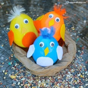 Baby Bird Plastic Egg Shakers Craft for Kids