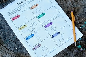 Free Printable Scavenger Hunt for Kids: Go on a Color Walk
