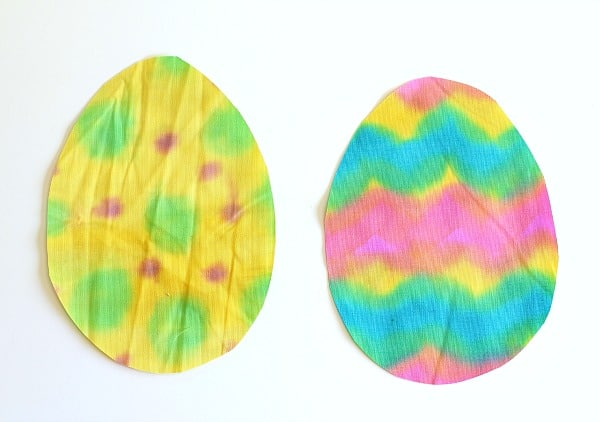 painted fabric eggs