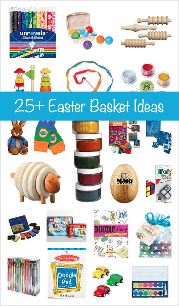 Over 25 easter basket ideas for kids buggy and buddy over 25 easter basket gift ideas for kids little basket stuffers perfect for easter negle Images
