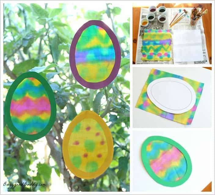 Fabric Easter Egg Suncatcher Craft for Kids