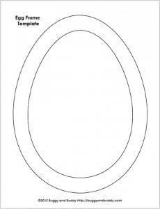 Free Egg Shape Template Printable