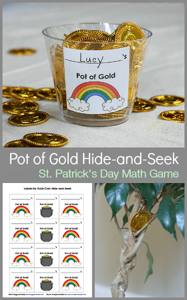 Math Games for Kids: St. Patrick's Day Gold Coin Hide-and-Seek