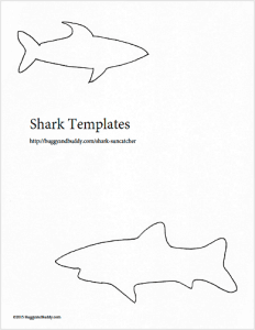 Shark Crafts For Preschoolers Suncatcher