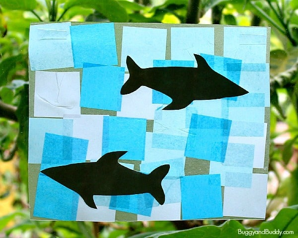 Shark Crafts for Kids: Shark Suncatcher~ BuggyandBuddy.com