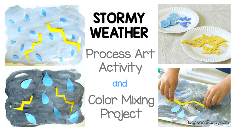 Weather Process Art Project for Kids