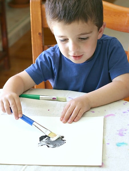 color mixing with paint for preschoolers