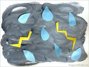 Weather Activities for Kids: Thunderstorm Art Project