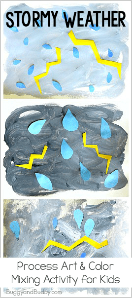 Stormy Weather Process Art Project For Kids Add This Easy Activity To Your Next