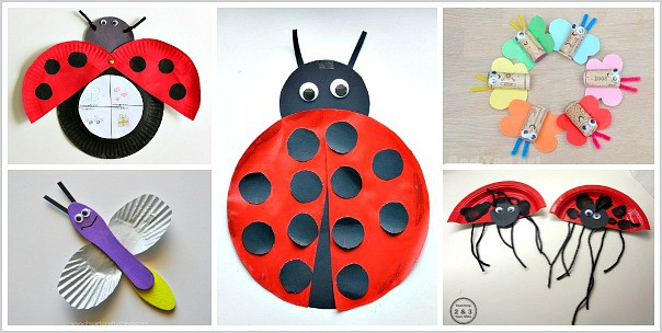 Insect Crafts For Kids Ladybug Paper Plate
