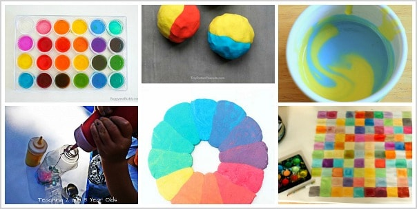 mixing colors with kids