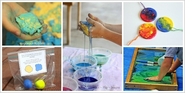color mixing with kids