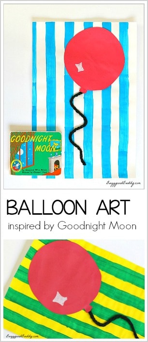 Balloon Art Activity for Kids inspired by Goodnight Moon- perfect for preschool and kindergarten!