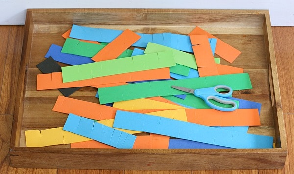 3-D Foam Strip Sculpture Art for Kids