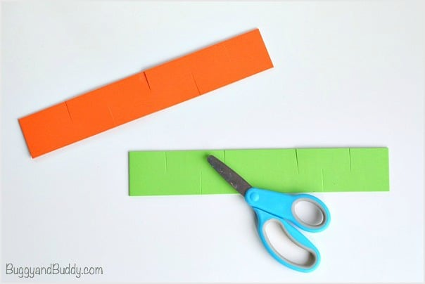 cut slits into your foam strips