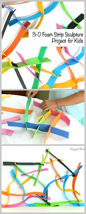 sculpture activity for kids using foam
