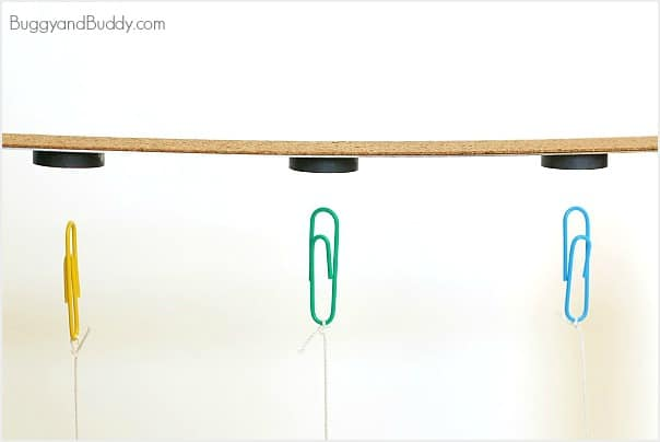defy gravity with magnets and paperclips