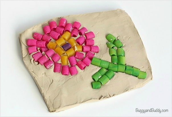 Flower Mosaic Craft for Kids (Perfect for Mother's Day)~ BuggyandBuddy.com