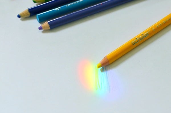 sketching a rainbow with a prism