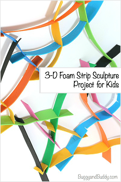 3-D Foam Sculpture Project for Kids~ BuggyandBuddy.com
