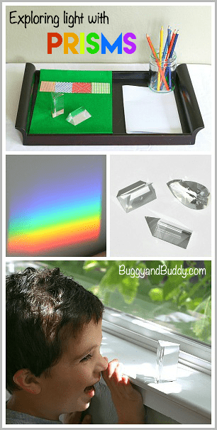 Rainbow Science for Kids: Exploring Light Using Prisms~ BuggyandBuddy.com