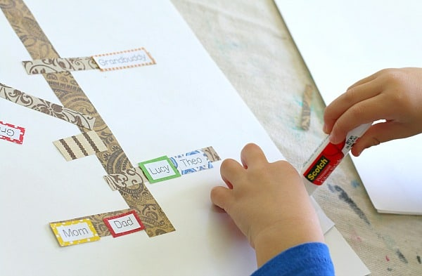 family tree craft for kids inspired by The Keeping Quilt