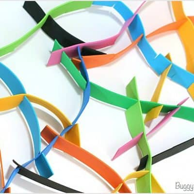 3-D Foam Strip Sculpture Activity for Kids