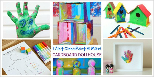 Activities for kids inspired by the children's book, I Ain't Gonna Paint No More!