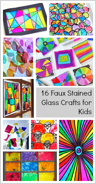 Follow Our Art For Kids Pinterest Board 16 Faux Stained Gl