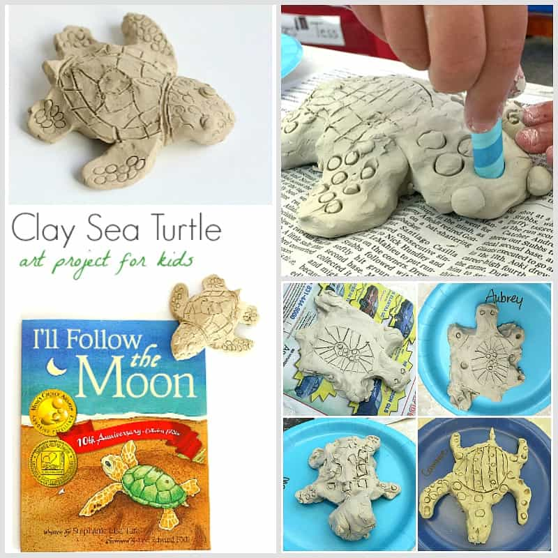 how to make a clay sea turtle