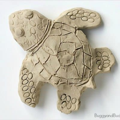 Clay Sea Turtle Art Activity for Kids