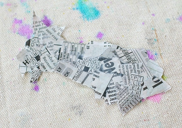 paint a layer of glue over the torn paper