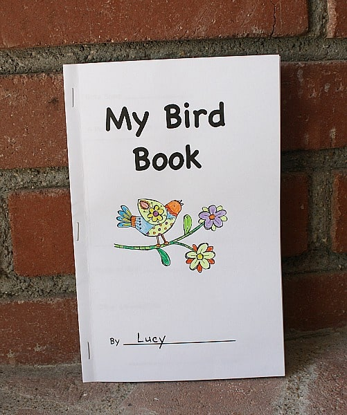 free printable bird book for kids