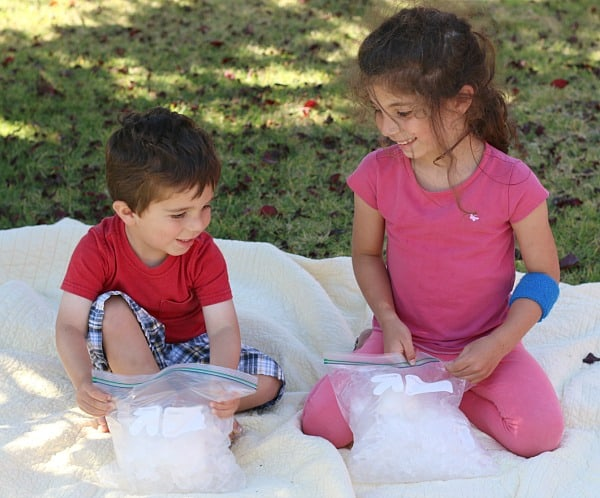 summer science for kids: how to make ice cream in a baggie (w/ free printable)