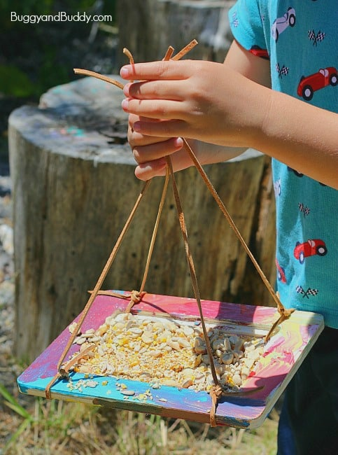 Craft for Kids: Homemade Bird Feeder