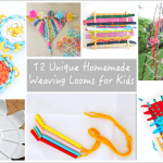 15+  Unique Homemade Looms for Weaving with Kids