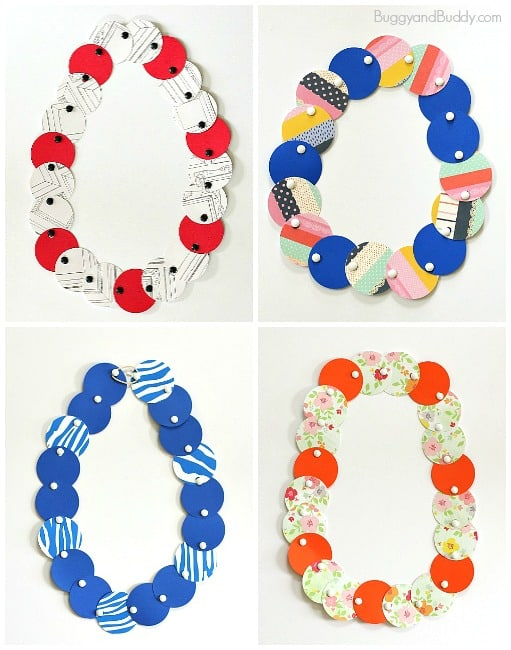 Mod Paper Circle Necklace Craft for Kids ~ BuggyandBuddy.com