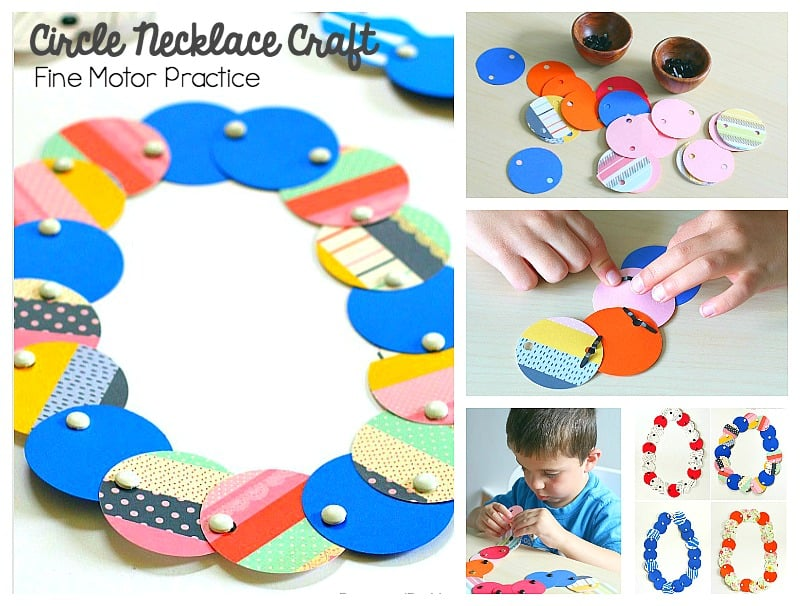 circle necklace craft for kids