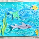 Cool Ocean Art Project for Kids Using Salt and Watercolor Paint