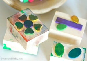 DIY Foam Stamps for Kids (Exploration Center)