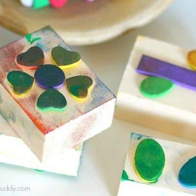 DIY Foam Stamps for Kids (Exploration Center)